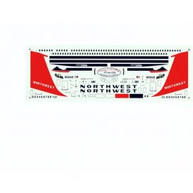 FLYING COLORS B707-320 NORTHWEST 1:144 Decals