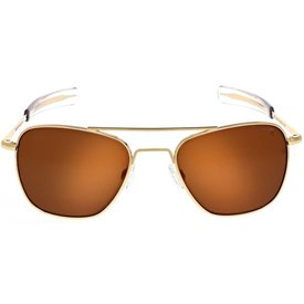 Randolph Engineering Aviator 23K Gold E.P. 58MM Bayonet Skytec™ Polarized American Tan
