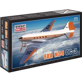 Minicraft Model Kits DC3 FAA N34 1:144