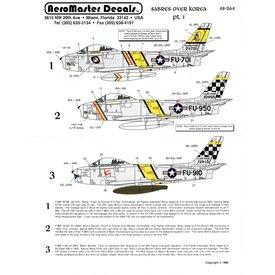 Aeromaster Sabres over Korea Part I 1:48 *Discontinued*