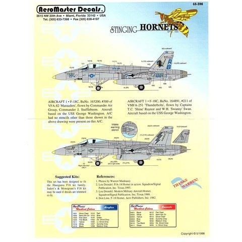 Aeromaster F18C Stinging Hornets Part III 1:48*Discontinued*