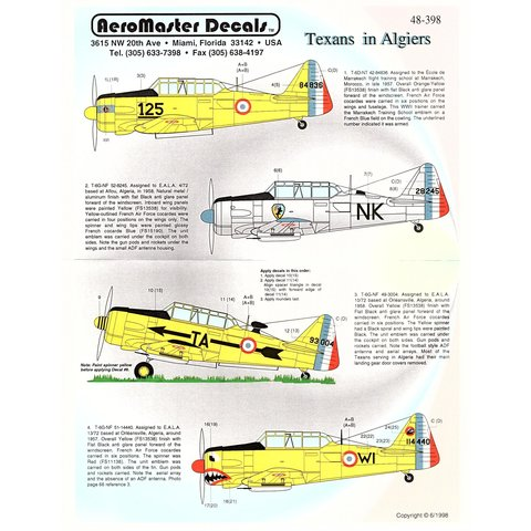 Aeromaster Texans in Algiers 1:48*Discontinued*