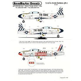 Aeromaster T33 over Korea Part I 1:48*Discontinued*