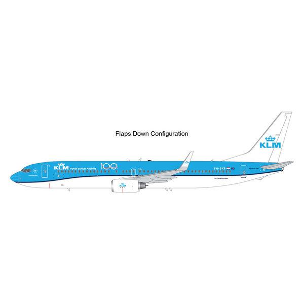 Gemini Jets B737-900W KLM 100 Years PH-BXP 1:200 Flaps Down