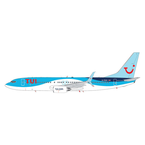 Gemini Jets B737-800S TUI Airways G-FDZU 1:200 scimitars