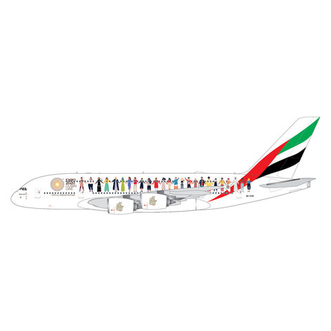 A380-800 Emirates Year of Tolerance livery A6-EVB 1:400