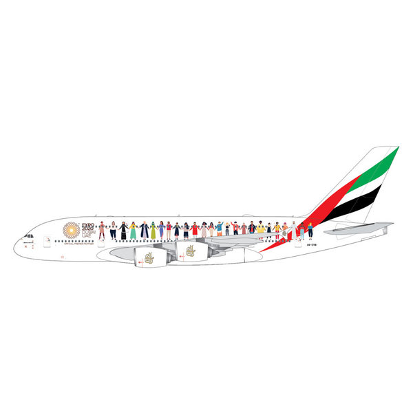 Gemini Jets A380-800 Emirates Year of Tolerance livery A6-EVB 1:400
