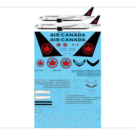 "TwoSix Decals TWOSIX B777-200 Air Canada ""Ice Blue"" 1:144 *O/P*[For Minicraft]"