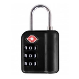 Austin House Lock Combo 3 Dial Black TSA Approved