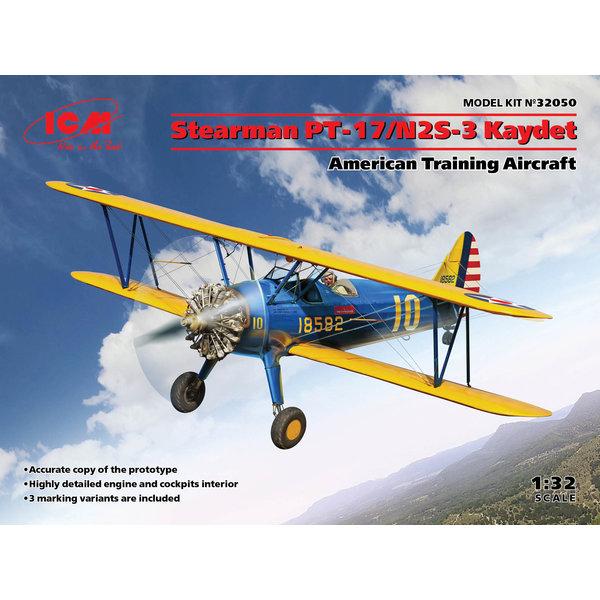ICM Model Kits Stearman PT-17/N2S-3 Kaydet Trainer 1:32