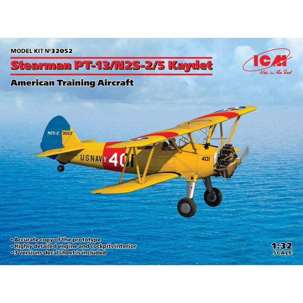 ICM Model Kits Stearman PT-13/N2S-2/5 Kaydet Trainer 1:32