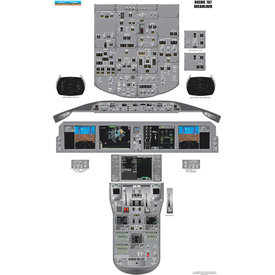 Aviation Training Graphics Cockpit Training Poster B787