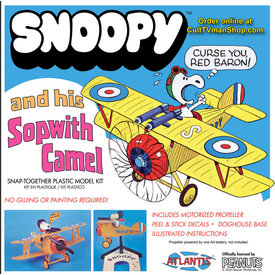 Atlantis Snoopy and His Sopwith Camel snap together kit