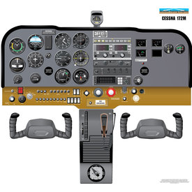Aviation Training Graphics Cockpit Training Poster Cessna 172M