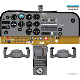 Aviation Training Graphics Cockpit Training Poster Cessna 172N