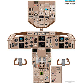 Aviation Training Graphics Cockpit Training Poster B757-200