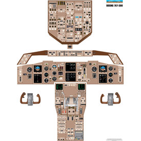 Aviation Training Graphics Cockpit Training Poster B767-300