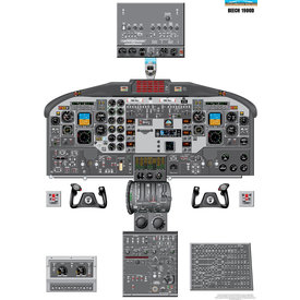 Aviation Training Graphics Cockpit Training Poster Beech 1900D