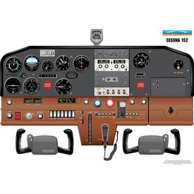 Aviation Training Graphics Cockpit Training Poster Cessna 152