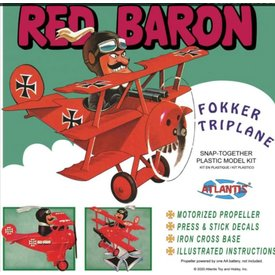 Atlantis Red Baron Fokker Triplane Cartoon snap together kit