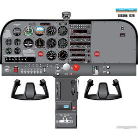 Aviation Training Graphics Cockpit Training Poster Cessna 172R