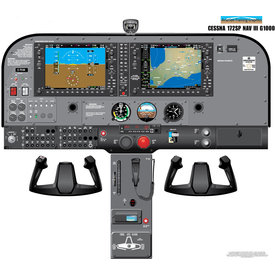 Aviation Training Graphics Cockpit Training Poster Cessna 172S / SP