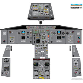 Aviation Training Graphics Cockpit Training Poster Challenger 601