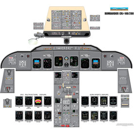 Aviation Training Graphics Cockpit Training Poster CRJ 100/200