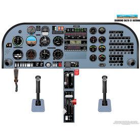 Aviation Training Graphics Cockpit Training Poster Diamond DA20-C1 Katana