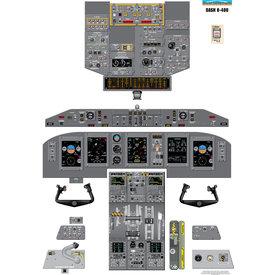 Aviation Training Graphics Cockpit Training Poster Dash 8-400 Q400 EFIS