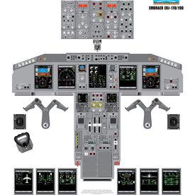 Aviation Training Graphics Cockpit Training Poster Embraer ERJ170/190