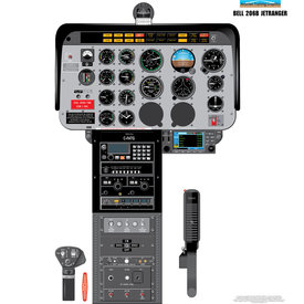 Aviation Training Graphics Cockpit Training Poster Bell 206B Jet Ranger