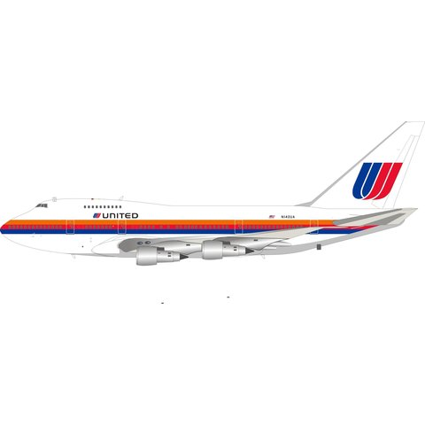B747SP United Airlines Saul Bass N140UA 1:200 +Preorder+