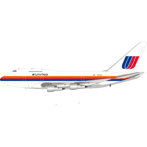 InFlight B747SP United Airlines Saul Bass N140UA 1:200 +Preorder+