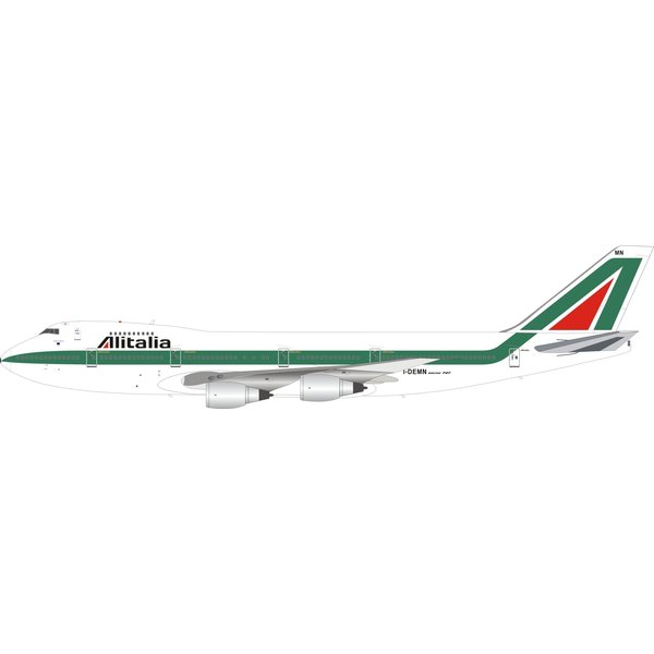 InFlight B747-200 Alitalia old livery I-DEMN 1:200  with stand +Preorder+