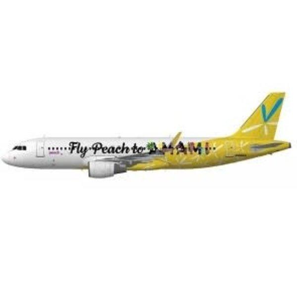 JC Wings A320S Peach Aviation AMAMI JA08VA 1:200 sharklets +preorder+ +NSI+