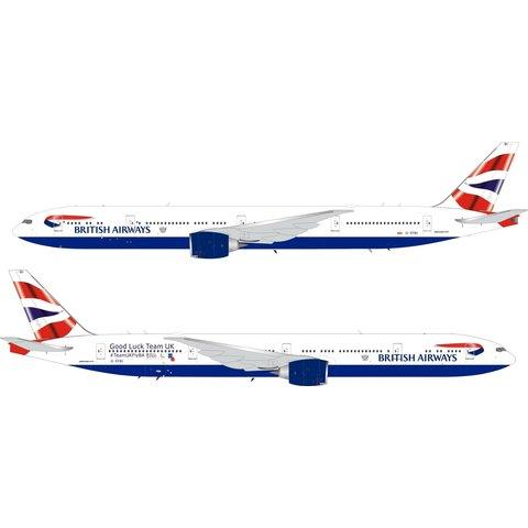 B777-300ER British Airways Union Team UK G-STBI 1:200 coin / stand +Preorder+