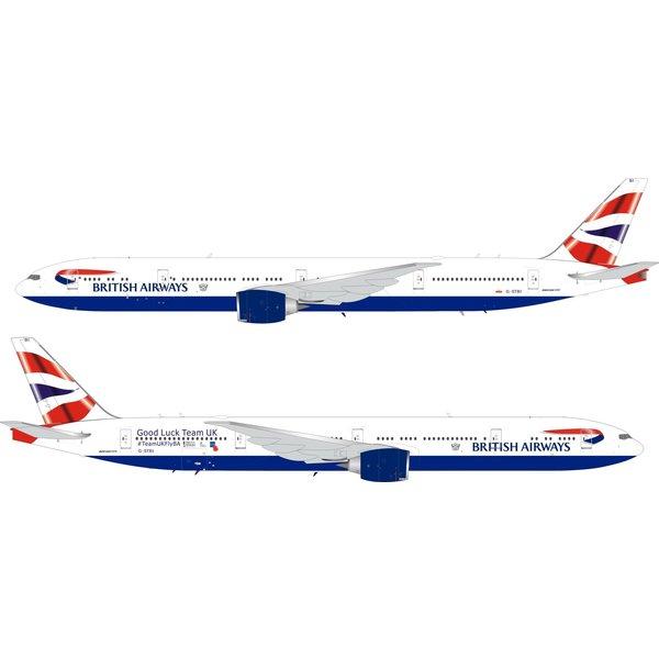 InFlight B777-300ER British Airways Union Team UK G-STBI 1:200 coin / stand +Preorder+