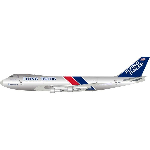 InFlight B747-200F(SCD) Flying Tigers N810FT 1:200 polished +Preorder+