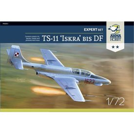 "Arma Hobby TS-11 Iskra Bis DF Expert set ""Silver"" 1:72 Kit"