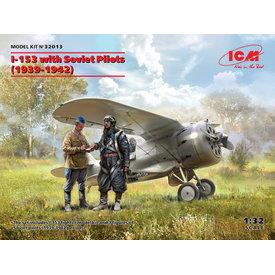 ICM Model Kits Polikarpov I-153 with Soviet Pilots (1939-1942) 1:32