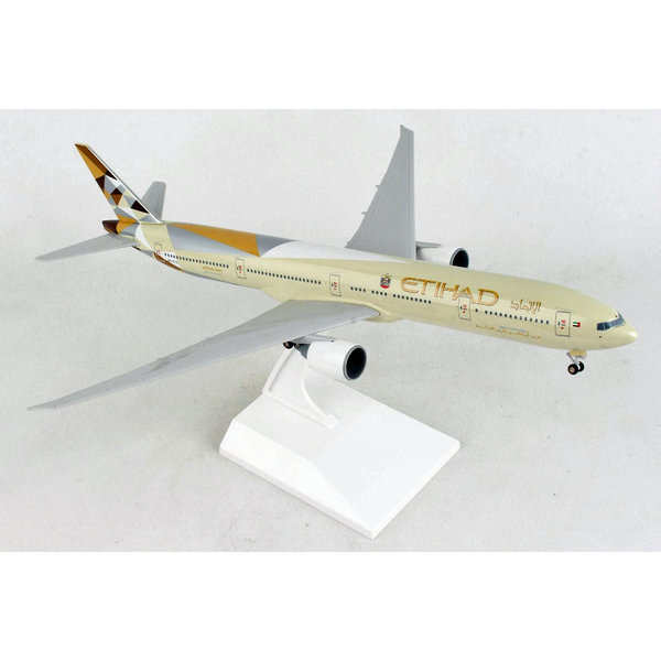 SkyMarks B777-300ER Etihad 2014 livery1:200 with gear and stand +NEW+