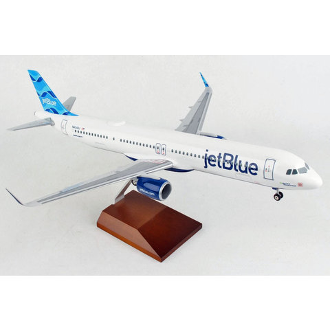 A321neoLR JetBlue 1:100 with Wood Stand & Gear +NSI+