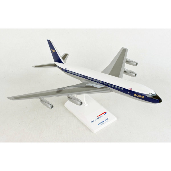 SkyMarks B707-300 BOAC Golden Speedbird G-AWHU 1:150 with stand