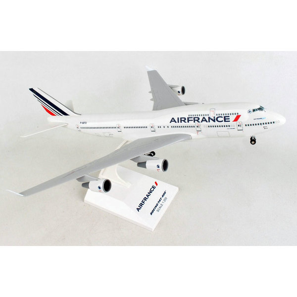 SkyMarks B747-400 Air France 1:200 with Gear + Stand