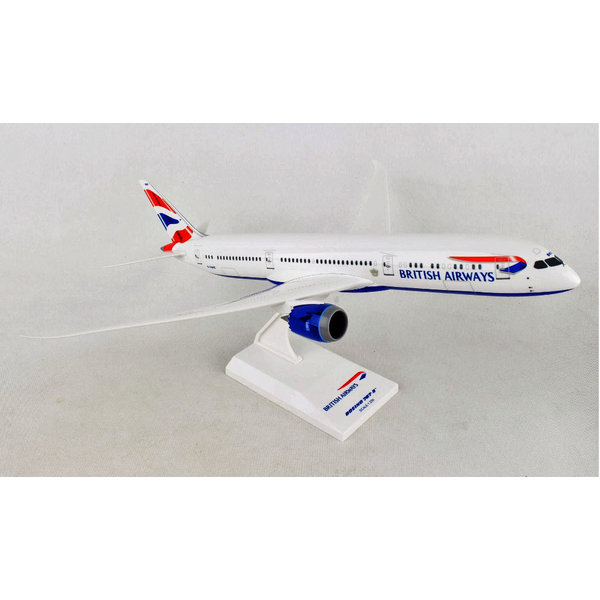 SkyMarks B787-9 Dreamliner British Airways Union Jack livery 1:200 with stand