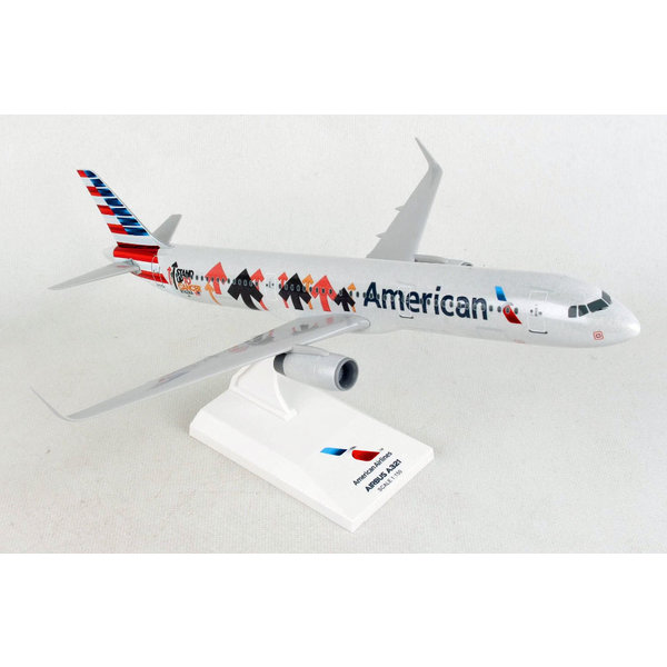 SkyMarks A321S American 2017 livery Stand up to Cancer 1:150 with stand