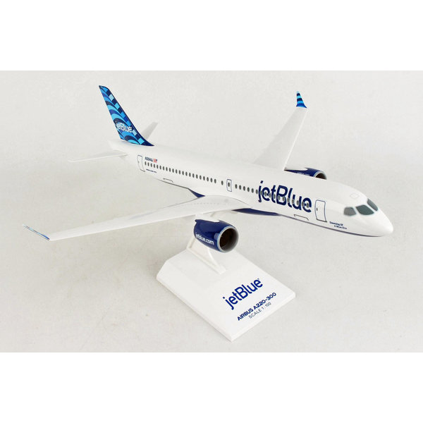SkyMarks A220-300 JetBlue 1:100 with stand