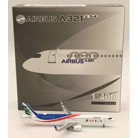 Panda Diecast Models A321S MEA 10,000th A320 Family T7-ME3 1:400