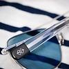Aviator 23K White Gold E.P.  58MM Skytec™ Polarized  Cobalt  Bayonet